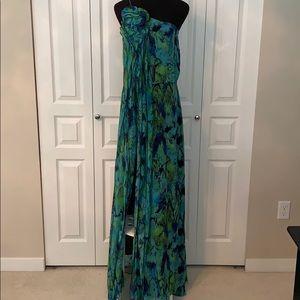 BCBG one shoulder maxi dress